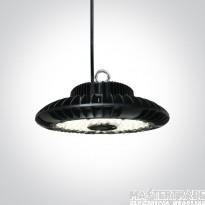 One Light 63150F/C 150W Circular LED High Bay 4000K 15000lm Black IP65