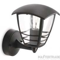 Philips Exterior Wall Lantern with E27 Lampholder Black 153803016