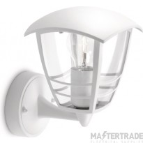 Philips Exterior Wall Lantern with E27 Lampholder White 153803116