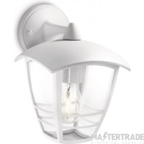 Philips Exterior Wall Lantern with E27 Lampholder White 153813116 60W