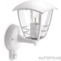 Philips Exterior Wall Lantern with E27 Lampholder White 153883116