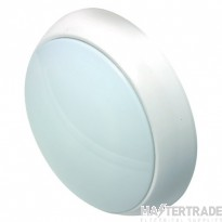 NVC Portland 15W LED IP54 Bulkhead White Opal MW M3 4000K-5000K NPO15/WH/O/MW/m3/840-850