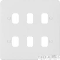 Schneider GGBL06G Grid Plate 6 Gang