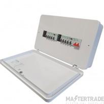 Square D Easy9 6+6 Consumer Unit c/w 2x 63amp RCD's & 8 Mcb's