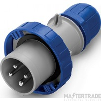 Scame 218.12534 IP65 Industrial Plug 3P+E 125A Blue