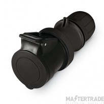 Scame 2P+E 16A Black IP67 Industrial Connector313.1643.K