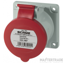 Scame 423.1667 Socket 3P+N+E 16A Red
