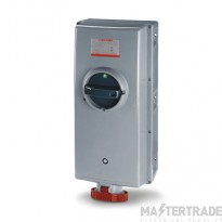 Scame 503.12587-T IP44 Switch Interlocked Socket 2PE 125 Red