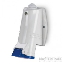 Scame 513.3253 IP44 Angled Industrial Socket 2P+E 32A Blue