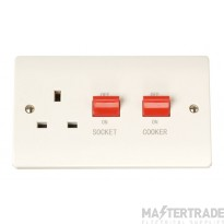 Click Curva CCA204 45A Cooker Switch + 13A Switched Socket
