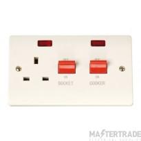 Click Curva CCA205 45A Cooker Sw + 13A Switched Socket + Neons