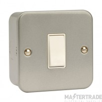 Click Metal Clad 10A Switch 1 Gang 1 Way & Box Metalclad CL010