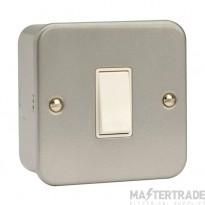 Click Metal Clad 10A Switch 1 Gang 2 Way & Box Metalclad CL011B
