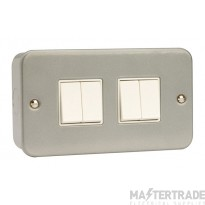 Click Metal Clad 10AX 4 Gang 2 Way Plate Switch CL019
