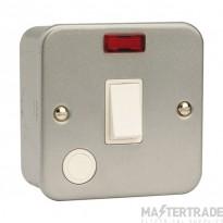 Click Metal Clad 20A Double Pole Switch Flex Outlet & Neon CL023