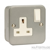 Click Metal Clad 13A Socket Outlet 1 Gang DP Switched & Box CL035B