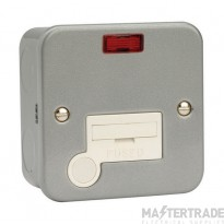 Click Metal Clad Unswitched Fused Spur Neon + Flex Outlet CL053