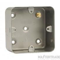 Click Metal Clad CL083 1 Gang 40mm Deep Mounting Box
