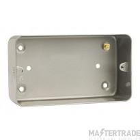 Click Metal Clad 40mm Box 2 Gang Metalclad CL086