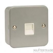 Click Metal Clad Single Master Telephone Socket CL120