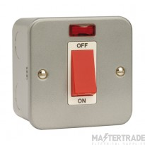 Click Metal Clad 45A 1 Gang Single Cooker Switch with Neon CL201