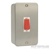 Click Metal Clad 45A 2 Gang Single Cooker Switch CL202