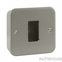 Click GridPro Frontplate 1 Gang c/w Back Box Metalclad CL20401