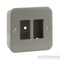 Click Metal Clad 2 Gang Grid Pro Front Plate CL20402