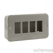 Click Metal Clad 4 Gang Grid Pro Front Plate CL20404