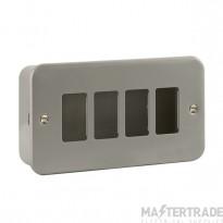 Click Metal Clad 4 Gang Grid Pro Front Plate CL20404B No K/O