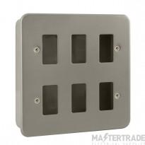 Click Metal Clad 6 Gang Grid Pro Front Plate CL20506B No K/O