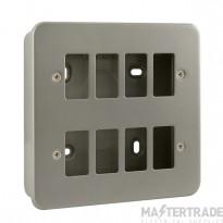 Click Metal Clad 8 Gang Grid Pro Front Plate CL20508