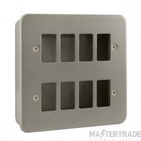 Click Metal Clad 8 Gang Grid Pro Front Plate CL20508B No K/O