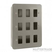 Click Metal Clad 9 Gang Grid Pro Front Plate CL20509B No K/O