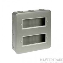 Click Metal Clad 12 Mini Grid Module Plate and Back Box CL512