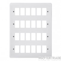 Click Mode White 24 Gang Grid Pro Front Plate CMA20524