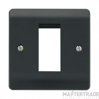 Click Mode Part M Frontplate 1 Gang 1 New Media Aperture Anthracite Grey CMA310AG