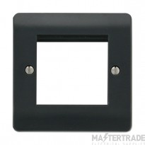 Click Mode Part M Frontplate 1 Gang 2 New Media Aperture Anthracite Grey CMA311AG