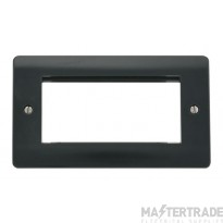 Click Mode Part M Frontplate 2 Gang 4 New Media Aperture Anthracite Grey CMA312AG