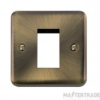 Click Deco Plus Antique Brass New Media Single Plate DPAB310