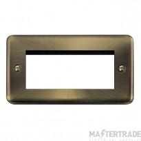 Click Deco Plus Antique Brass New Media Quad Plate DPAB312