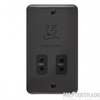 Click Deco Plus 115/230V Shaver Socket Dual Voltage Black Nickel DPBN100BK