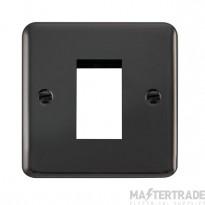 Click Deco Plus Black Nickel New Media Single Plate DPBN310