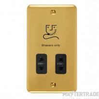 Click Deco Plus 115/230V Shaver Socket Dual Voltage Polished Brass DPBR100BK