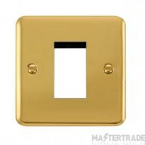 Click Deco Plus Polished Brass New Media Single Plate DPBR310