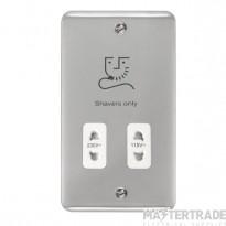 Click Deco Plus 115/230V Shaver Socket Dual Voltage Polished Chrome DPCH100WH