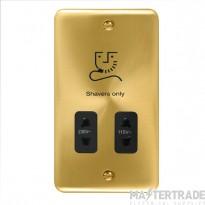 Click Deco Plus 115/230V Shaver Socket Dual Voltage Satin Brass DPSB100BK