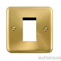 Click Deco Plus Satin Brass New Media Single Plate DPSB310