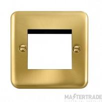 Click Deco Plus Satin Brass New Media Twin Plate DPSB311