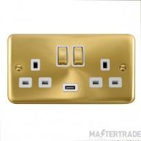 Click Deco Plus 13A Double Switched Socket USB DPSB570WH